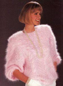 Puloverul de mohair: din anii 80 in prezent