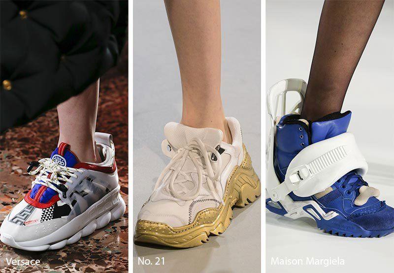 Sneakersi voluminosi cu linii neobisnuite
